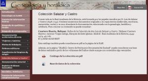 Colección Salazar y Castro. Genealogía y heráldica. Biblioteca Nacional de España
